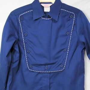 Used, Vintage Women's H Bar C Blue Western Bib Shirt for sale